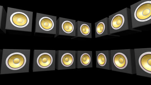 Speakers Stage Ab HD Stock Video Footage