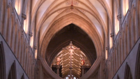 Wells cathedral Inside Jesus Roof Footage
