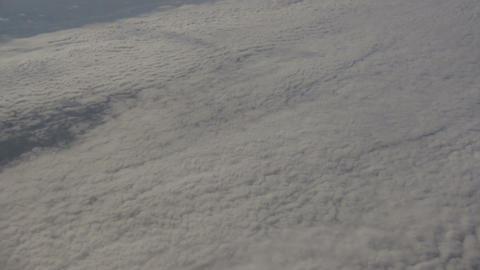 Beautiful view from above the sunny clouds (High Definition) Stock Video Footage
