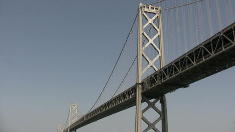 Bay Bridge in San Francisco Bay Stock Video Footage