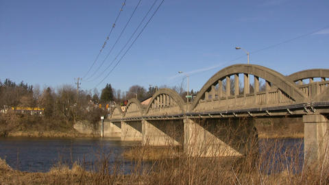 Bridge Over Water 3A (High Definition) Stock Video Footage