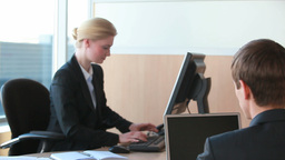 Secretary Working with Colleagues Footage
