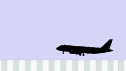 Risky Landing stock footage