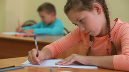 Diligent Pupil stock footage