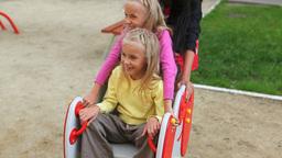 Children on Swinging Chair Footage