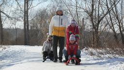 Parents vs. Kids on sledge Footage