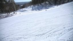 Snowboarding through the camera eye Footage
