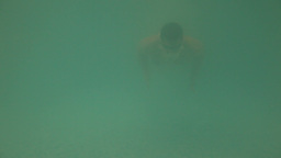 Swimming under water Footage