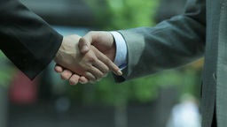 Business Handshake Footage