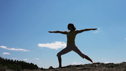 Young Woman Practicing Yoga Footage