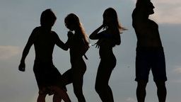 Dancing Silhouettes stock footage
