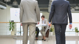 Business Welcoming stock footage