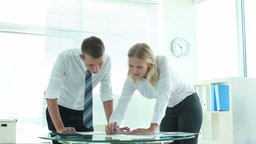 Teamwork And Paperwork stock footage