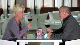 Seniors On A Date stock footage