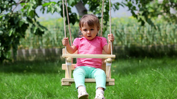 Little Girl Swinging Footage