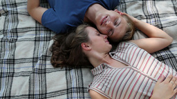 Relaxed Lovers stock footage
