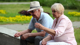 Carefree Seniors stock footage