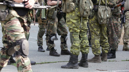 Armed Troops Gathering For A Military Training Footage