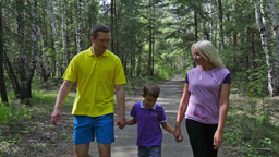 Family Walk stock footage