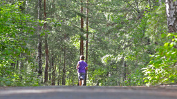 Little Boy Running Away In The Woods Footage
