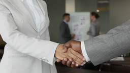 Business People Of Two Different Races Shaking Hands Confirming Their Partnershi Footage
