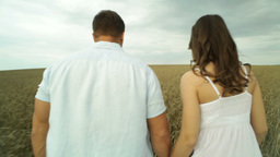 Countryside Couple stock footage
