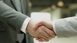 Handshake Of Business Partners Footage