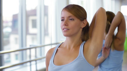 Yoga Exercises stock footage