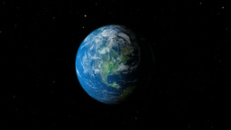 Earth planet gyrating high to slow Animation