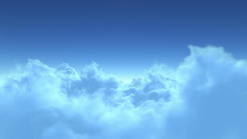 4K flight over clouds Animation