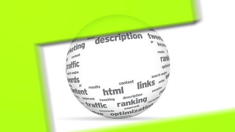 3d SEO word Sphere Animation