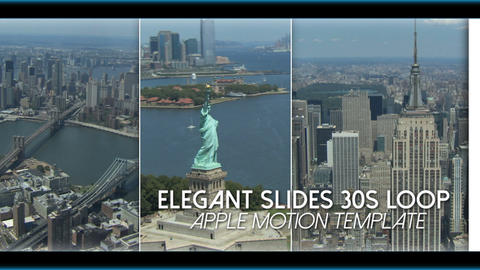 Elegant Slides 30s Loop - Apple Motion and Final Cut Pro X Template Apple Motion Template