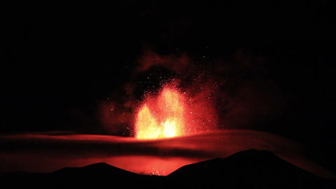 The Eruption Of Mount Etna. Sicily, Italy stock footage