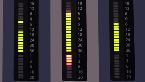 Levels Led Indicator stock footage