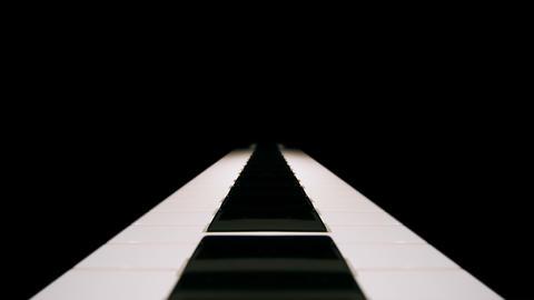 Mirrored piano keyboard Footage
