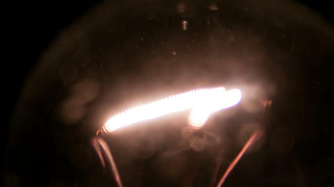 Lamp Filament stock footage