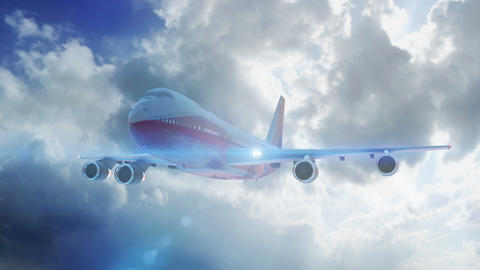 airliner fly hd Animation