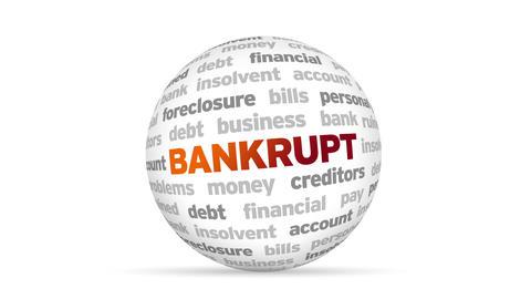 Bankrupt Word Sphere Animation