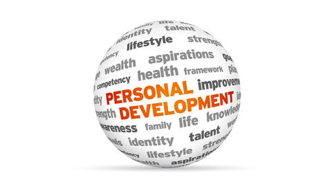 Personal Development Word Sphere Animation