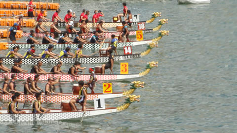 Time Lapse Of Hong Kong International Dragon Boat  stock footage