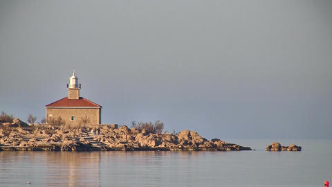 Lighthouse on mediterranean Footage