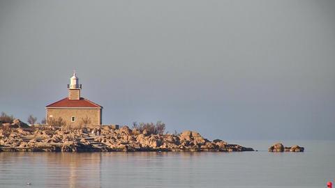 Lighthouse on mediterranean Footage