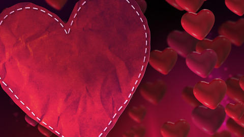 Valentines Heart Loop stock footage