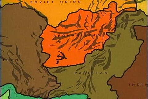 A Map Explains Afghanistan's Precarious Position A stock footage