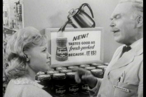 Folgers Coffee TV commercial Footage