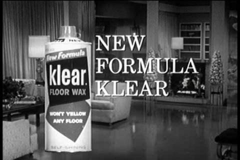 Klear Floor Wax TV commercial Footage
