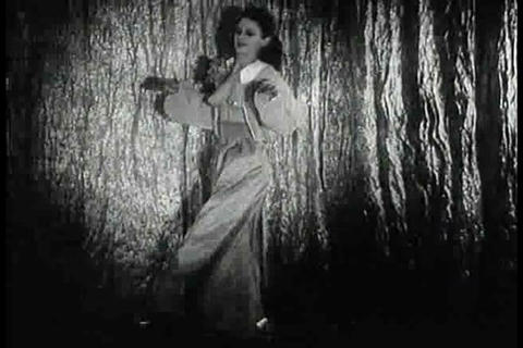 A sexy dancer in a burlesque show in the 1940s Footage