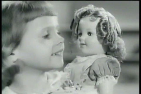 Shirley Temple Comes In Doll Form During The 1950s stock footage