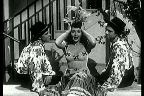 Exotic dance number from the 1940s featuring Latin Stock Video Footage