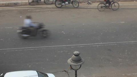 Street in Agra Footage